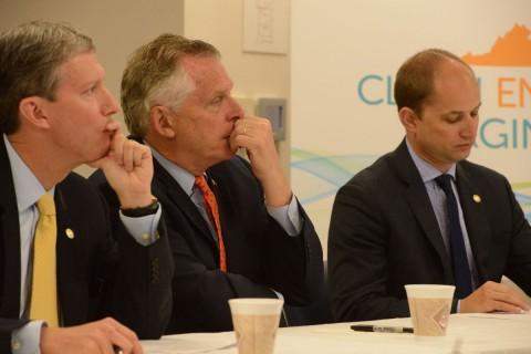 McAuliffe highlights solar project; urges localities to get serious about alternative energy