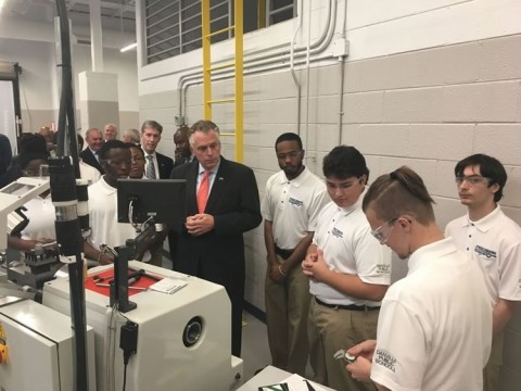 GW precision machining facility one-of-a-kind in state, governor says