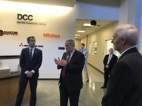 In visit, governor praises Dan River Region's precision machining programs